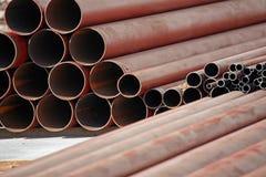 Câmaras de ar do ferro com oxidação Fotografia de Stock Royalty Free
