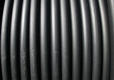 Câmaras de ar plásticas pretas Foto de Stock Royalty Free