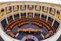 Câmaras de casa do capital de estado de Idaho como visto de cima de Fotografia de Stock Royalty Free