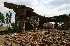 Câmaras de gás de Auschwitz Imagens de Stock