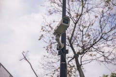 Câmaras de vigilância ao ar livre Foto de Stock Royalty Free
