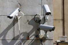 Câmaras de vigilância da segurança imagem de stock royalty free