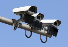Câmaras de vigilância da segurança isoladas fotos de stock royalty free