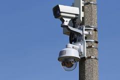 Câmaras de vigilância do vídeo do CCTV Foto de Stock Royalty Free