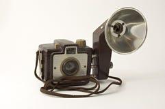 Câmera 1950 e flash imagens de stock