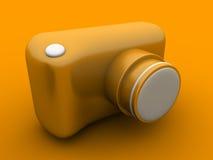 Câmera 3D da foto Fotografia de Stock Royalty Free