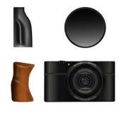 Câmera, apertos e ilustração do filtro Fotos de Stock