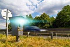 Câmera automática da velocidade Foto de Stock Royalty Free