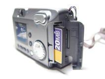 Câmera com retrato na tela Imagens de Stock