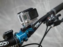 Câmera da ação da edição do preto de GoPro Hero3+ Fotos de Stock Royalty Free
