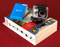 Câmera da ação de HD Fotos de Stock