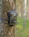 Câmera da floresta dos caçadores imagem de stock