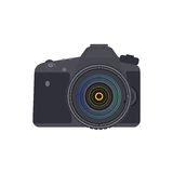 Câmera da foto da opinião dianteira do vetor Fotografia de Stock