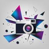 Câmera da foto de Digitas ilustração stock