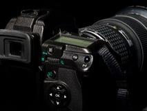 Câmera da foto de Digitas com lente grande. Imagem de Stock