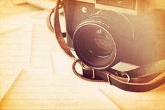 Câmera da foto do vintage foto de stock