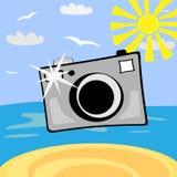 Câmera da foto dos desenhos animados Fotografia de Stock Royalty Free