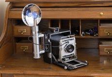 Câmera da imprensa do vintage foto de stock