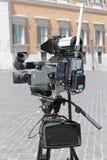 Câmera da notícia Imagem de Stock
