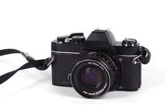 Câmera da película de SLR fotografia de stock