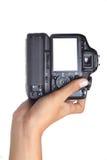 Câmera da terra arrendada da mão Fotos de Stock