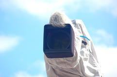 Câmera da transmissão com tampa Foto de Stock Royalty Free