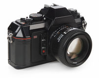 câmera de 35mm SLR Fotografia de Stock