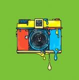 Câmera de cor brilhante artwork Ilustração do gráfico do olor do ¡ de Ð Imagem de Stock Royalty Free