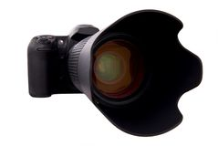 Câmera de Digitas DSLR Imagens de Stock