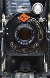 Câmera de dobradura de Agfa Billy, fim acima imagem de stock royalty free