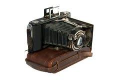 Câmera de dobramento dos foles da câmera velha Fotos de Stock
