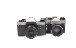 Câmera de dois filmes velha Foto de Stock Royalty Free