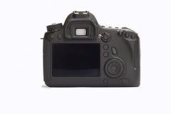 Câmera de DSLR em um fundo branco Fotos de Stock