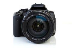 Câmera de DSLR - vista dianteira imagem de stock royalty free