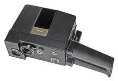 Câmera de filme caseiro para a produção de cinema amador no branco fotos de stock