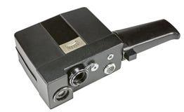 Câmera de filme caseiro para a produção de cinema amador no branco foto de stock
