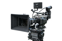 Câmera de filme de Digitas isolada no branco Foto de Stock Royalty Free