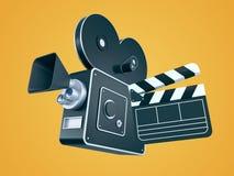 Câmera de filme retro e válvula do filme Foto de Stock