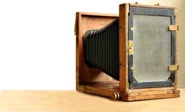 Câmera de madeira fotografia de stock