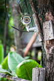 Câmera de prata do CCTV Fotos de Stock