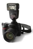 Câmera de reflexo com flash imagem de stock royalty free
