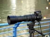 Câmera de reflexo da única lente Fotografia de Stock Royalty Free