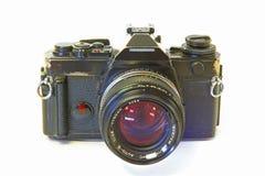 Câmera de reflexo da única lente isolada em Backgr branco Fotografia de Stock Royalty Free