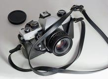 Câmera de Slr Imagem de Stock