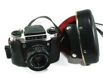 Câmera de SLR do filme do vintage imagem de stock