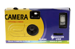 Câmera descartável barata Fotografia de Stock Royalty Free