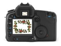 Câmera digital profissional da foto Fotografia de Stock Royalty Free