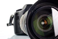 Câmera digital profissional da foto imagem de stock