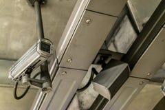 Câmera do CCTV e altifalante do público Imagem de Stock Royalty Free