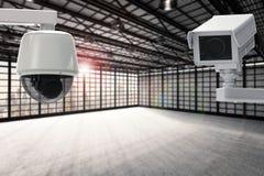Câmera do Cctv na fábrica Imagens de Stock Royalty Free